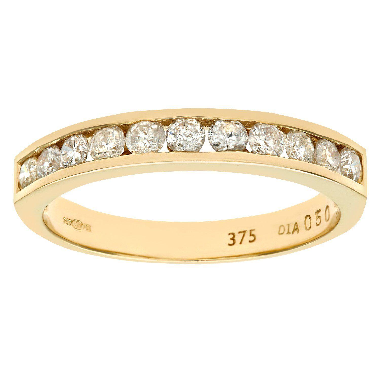 Naava 9ct White Gold Diamond Channel Set Eternity Ring iyf8OvVFs