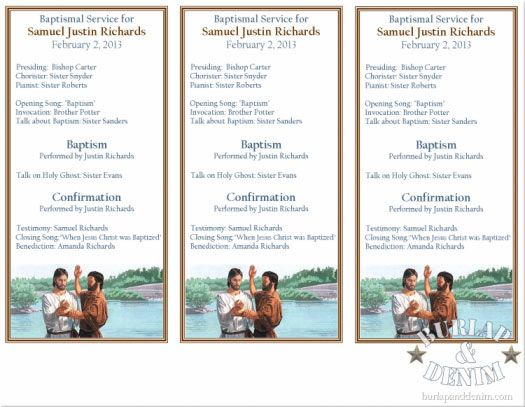 Free Printable Baptism Program By Burlap And Denim