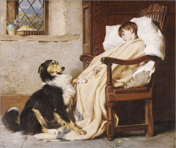 Briton Riviere - Old Playfellows 1883