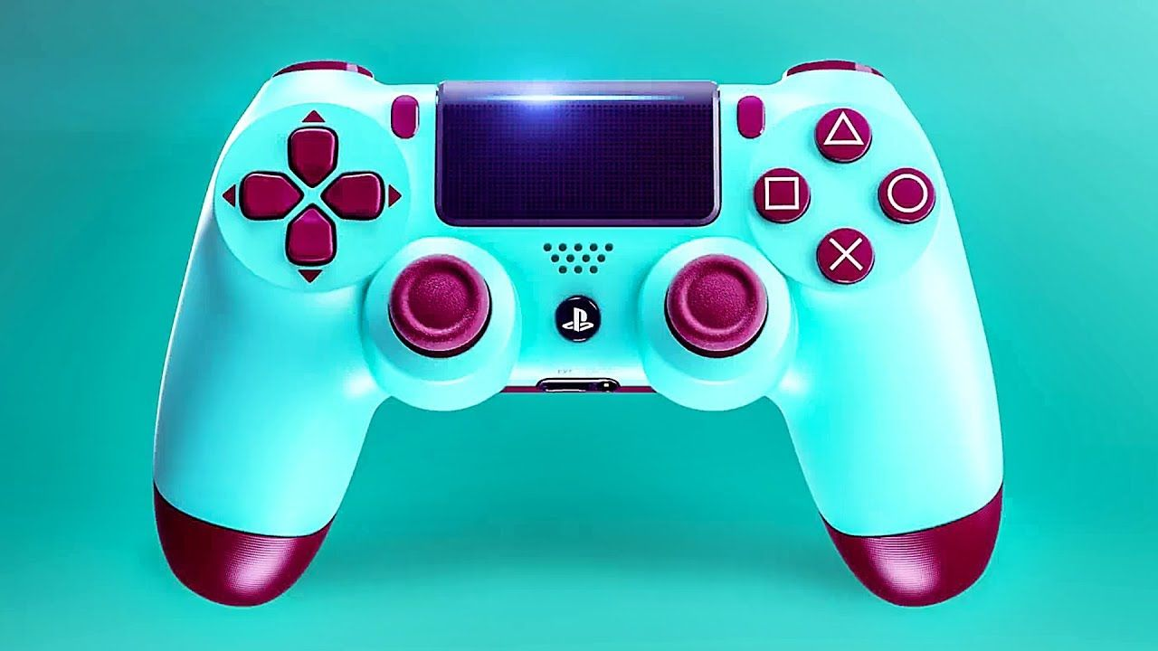New Ps4 Controller Berry Blue Dualshock 4 Trailer Special Edition 2018 Ps4 Controller Ps4 Controller Custom Ps4