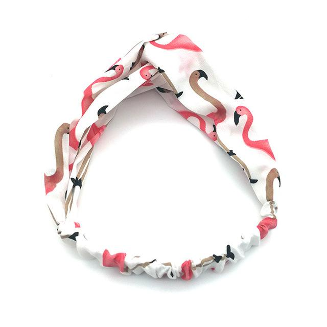 Women Headbands Cartoon Flamingo Bands GirlHeadwear Headwrap Hair Accessories