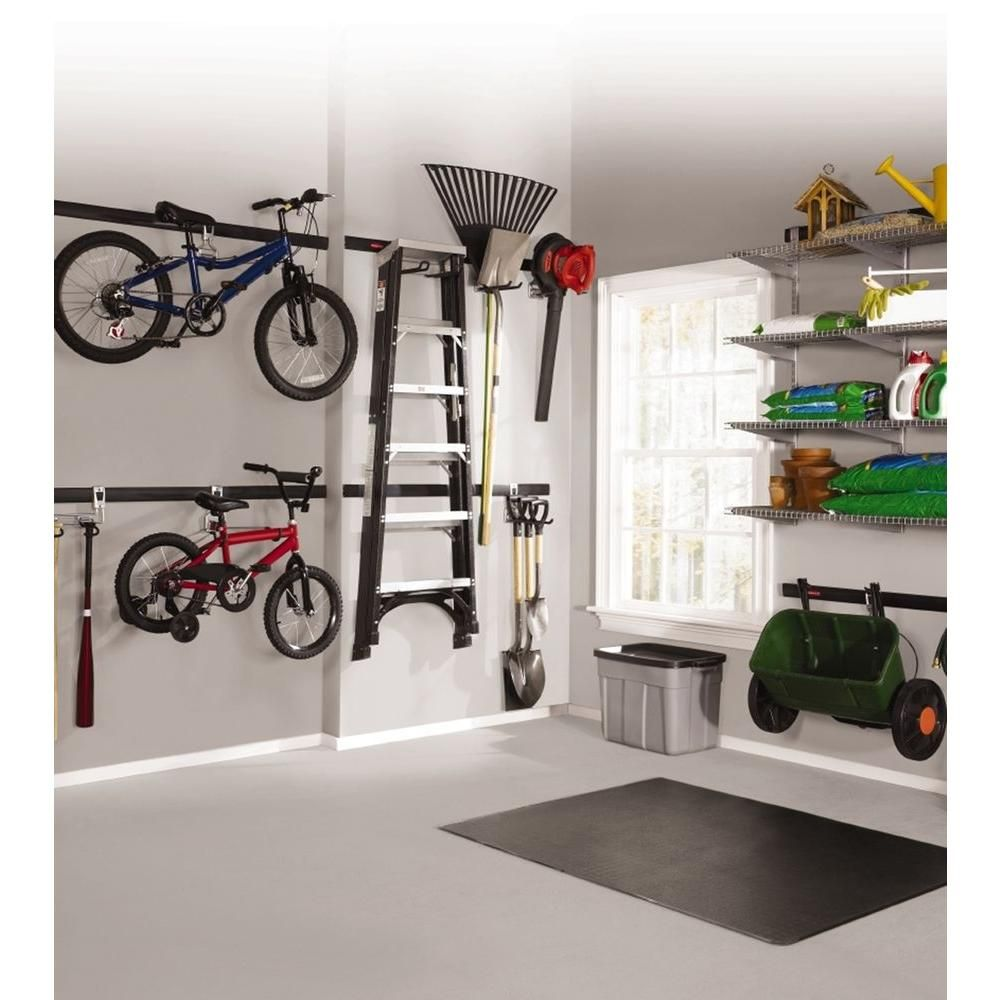 Fasttrack garage 1 bike horizontal bike hook bike hooks for Rubbermaid fasttrack