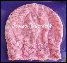 Scorzo Tricroche  Touca de tricô Cálice com receita  D 5fe947f8e5f