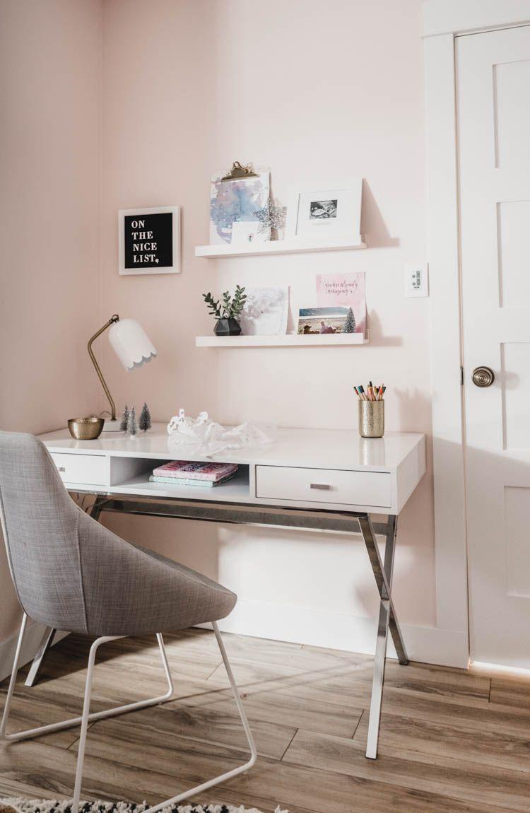 Girly Christmas Bedroom Pink Holiday Decor Lemon Thistle Bedroom Desk Decor Boys Room Decor Desk Layout