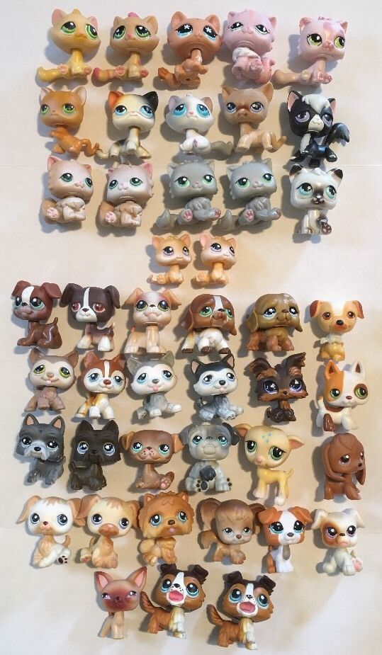 Lot Of 44 Littlest Pet Shop Cats Dogs 17 Cats 27 Dogs Lps Lps Dog Lps Pets Littlest Pet Shop