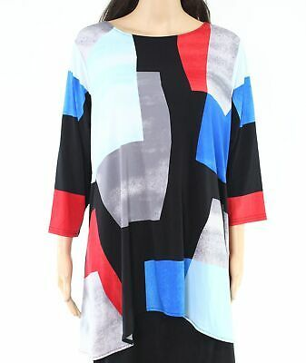 Alfani Womens Top Blue Red 1X Plus Hi-Low Asymmetrical Colorblock Tunic $70 041 #fashion #clothing #shoes #accessories #women #womensclothing (ebay link)
