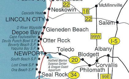 Oregon State Map Gallery Oregon Map Oregon Beaches Oregon Coast
