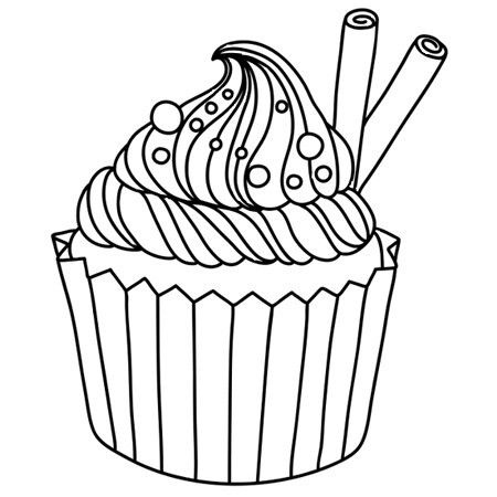 Ice Cream Cupcakes Coloring Pages Books Fun Art Muffin Birthdays Paper Crafts Presents Free Kids