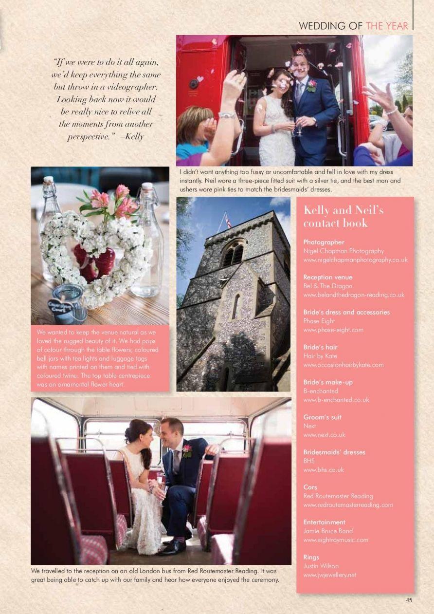Wedding Of The Year 2014 Feature Berks Bucks Oxon Wedding