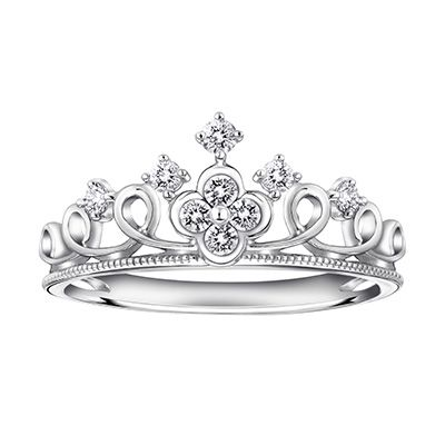 princess crown engagement ring 019cttw diamond crown of - Crown Wedding Ring