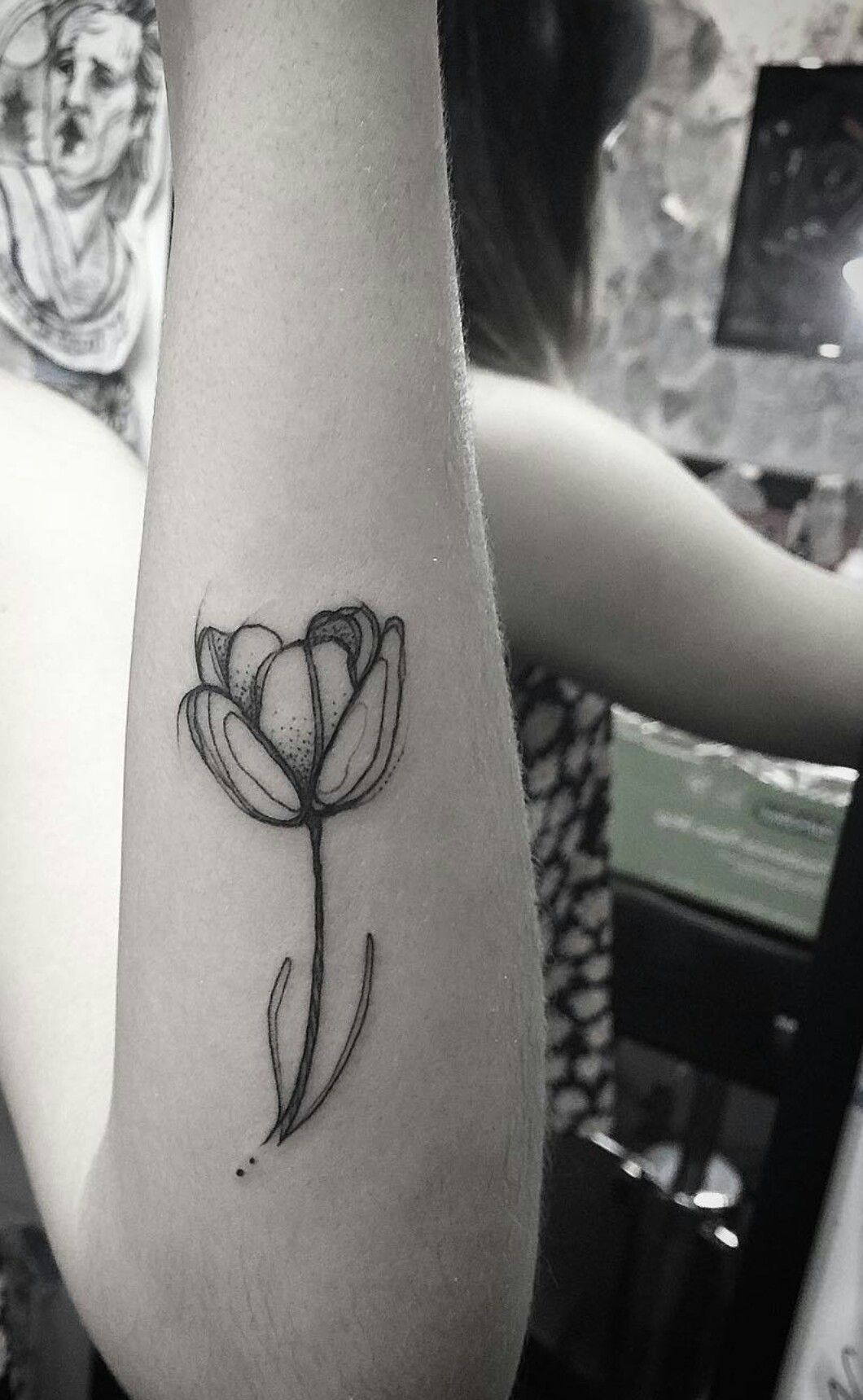Tulip Tattoo In Love Tattoos Clever