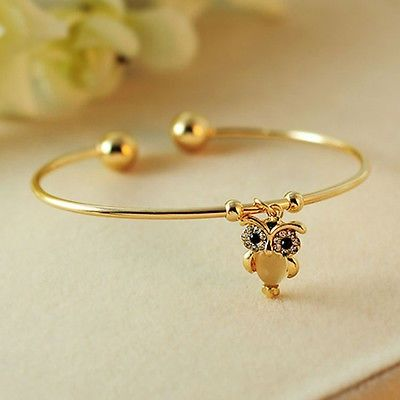 awesome New Style Fashion Women Owl Rhinestone Gold Plated Cuff Bracelet Bangle Jewelry - For Sale View more at http://shipperscentral.com/wp/product/new-style-fashion-women-owl-rhinestone-gold-plated-cuff-bracelet-bangle-jewelry-for-sale-9/