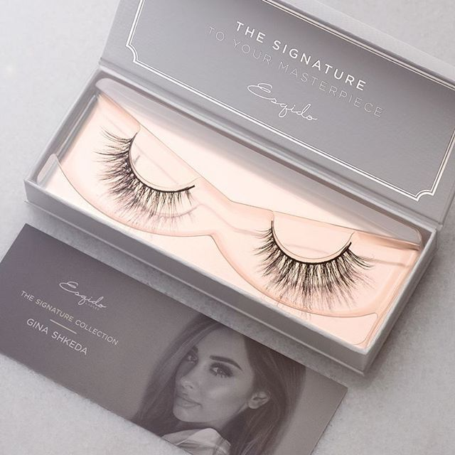 Poised and polished, the Gina lash is a distinct representation of Gina. Get yours today at ww.esqido.com/shop til quantities last.