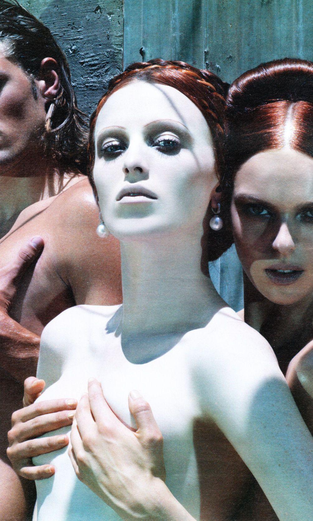 """""""A Sexual Revolution"""": Karen Elson & Elise Crombez by Steven Meisel for W September 2004"""