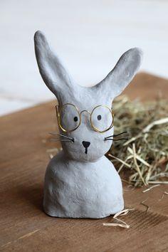 DIY: Hase mit Brille aus Modelliermasse basteln - Lavendelblog