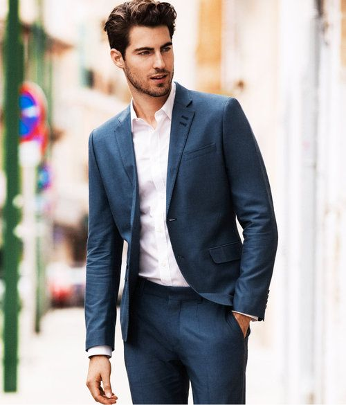 Classic Blue Suit | My type of men | Pinterest | Kravaťáci ...