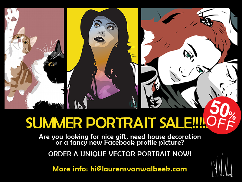 Summer portrait sale  by Laurens van Walbeek