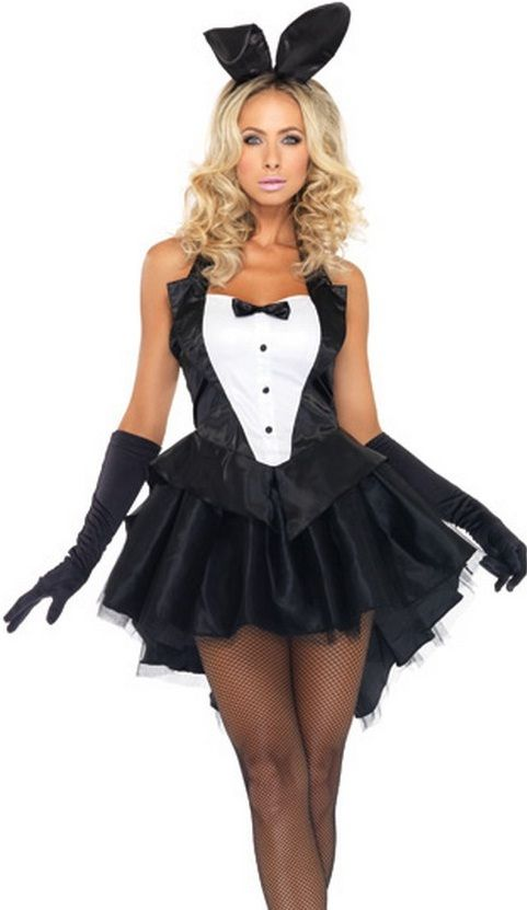 f0b11ccfb0f FANCY DRESS BLACK TUXEDO BUNNY COSTUME / BUNNY GIRL OUTFIT / PLAYBOY ...