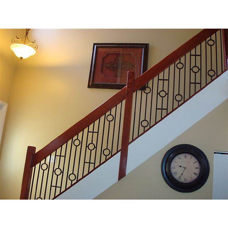 Shop House Of Forgings 44 In Powder Coated Wrought Iron Circle   Lowes Rod Iron Railing   Metal   Handrail Lowes   Stair Railings   Lowes Cost   Porch