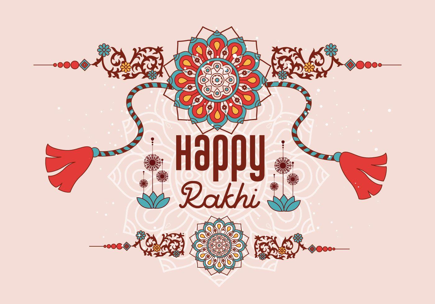 Happy Rakhi Background Vector | Happy rakhi, Happy raksha bandhan images, Raksha bandhan images