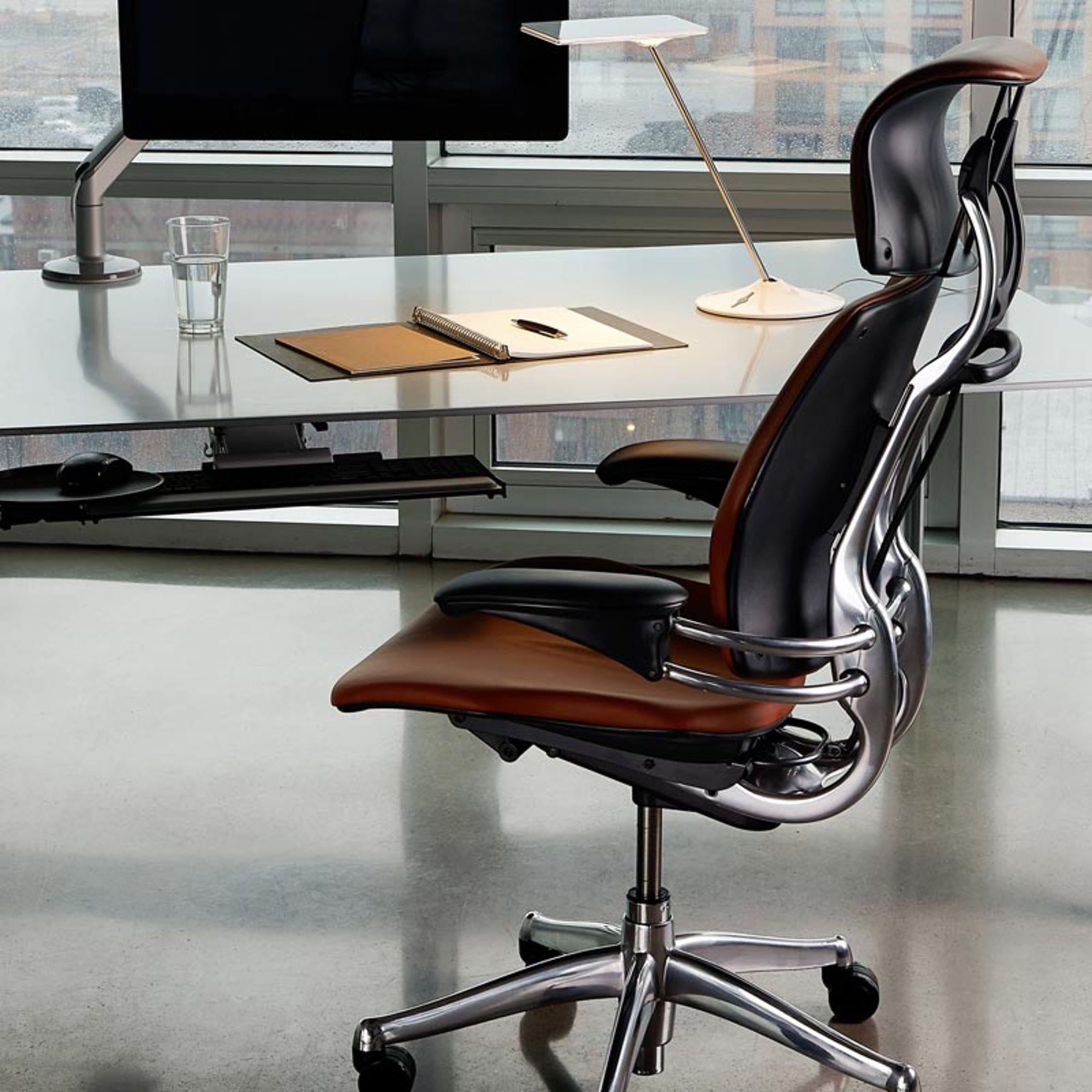 Humanscale Freedom Headrest Chefsessel In Leder Bison Chefsessel