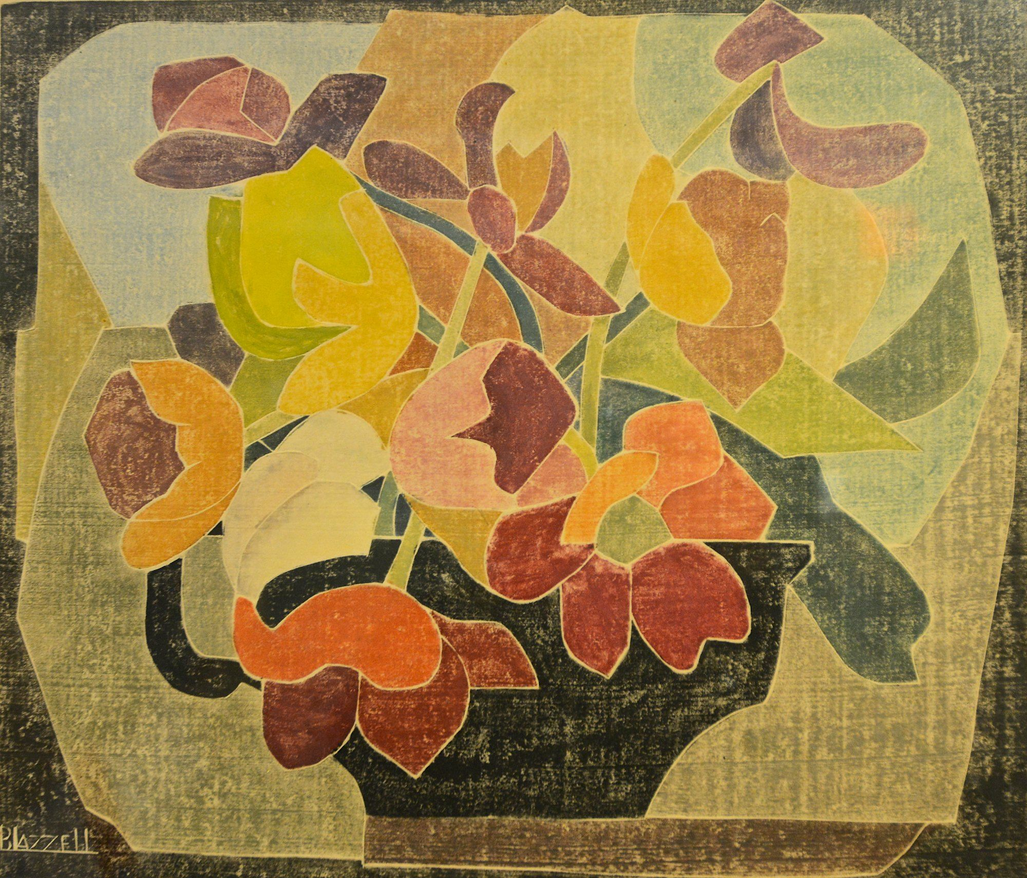blanche lazzell - red tulips