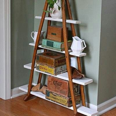 Shelves made with crutches