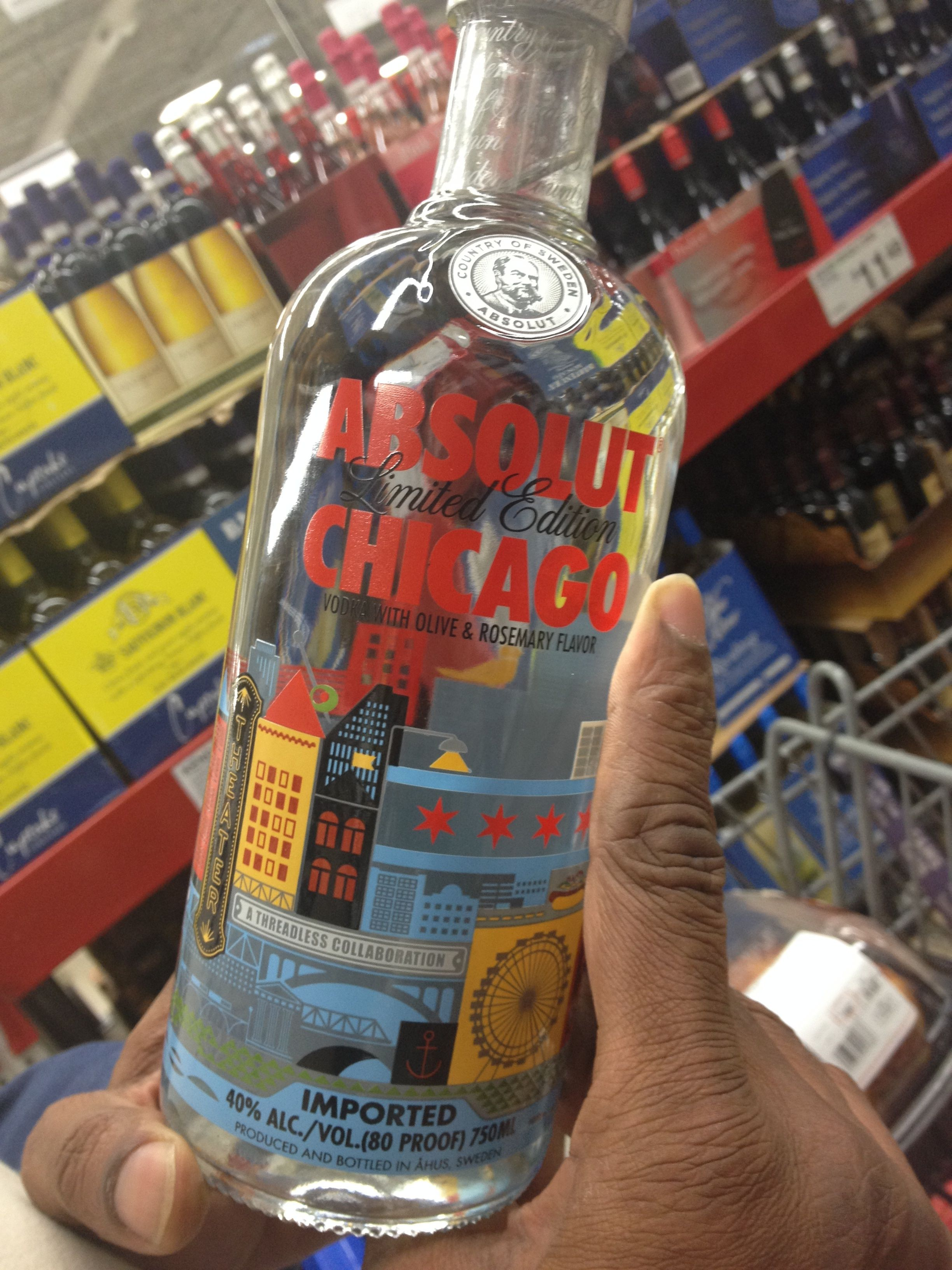 Holiday gift for the vodkaholic Chicagoan: Absolut Chicago. $19.99.