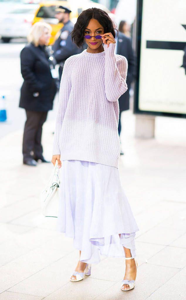 Jourdan Dunn from Best Celeb Street Style From NYFW Winter ...