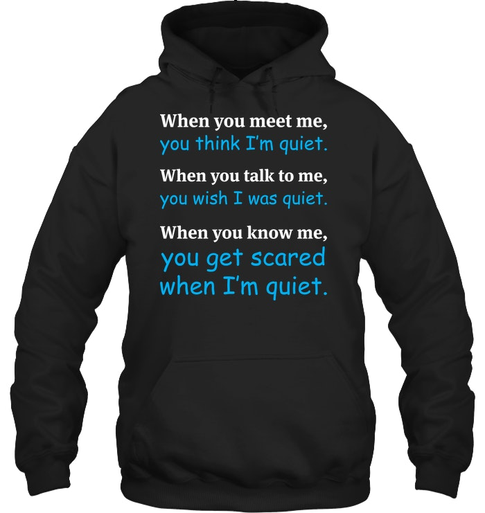 When You Meet Me You Think I'm Quiet Funny T Shirts Hilarious Sarcastic Shirts Funny Tee Shirt Humour Funny Outfits