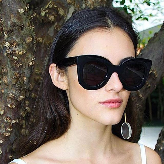 83f03714307 NEW Celine Marta CL 41093 S Black Oversized Cat Eye Sunglasses AUTHENTIC