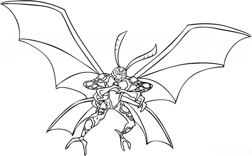 Ben 10 Coloring Pages Alien Force