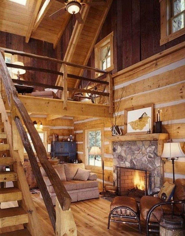 Log cabin decorating ideas | Tiny log cabins, Log homes, Log ...