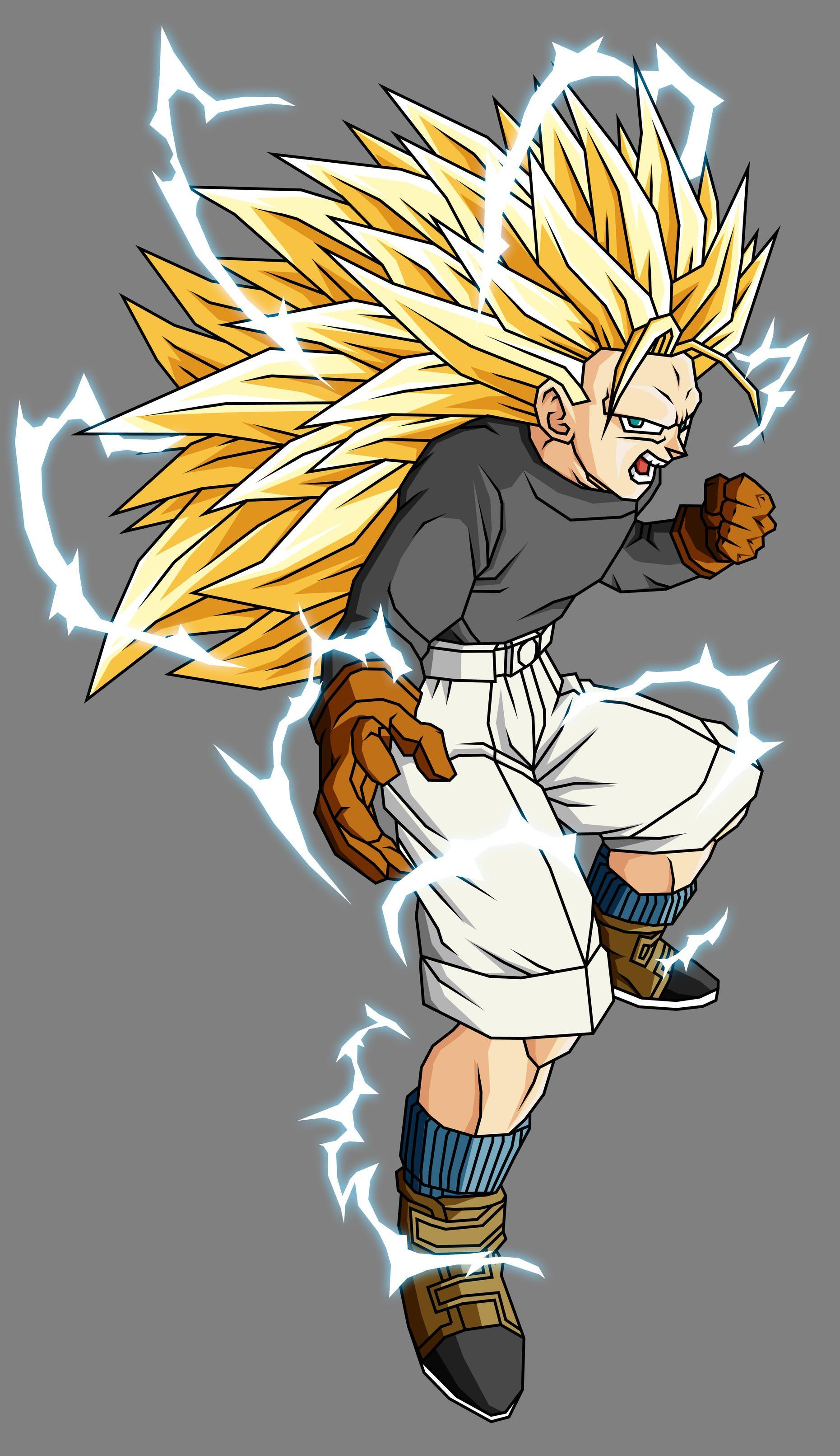 Trunks Gt Ssj3 By Theothersmen Dragon Ball Art Dragon Ball Artwork Anime Dragon Ball