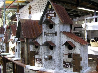 Nice Birdhouses For Hill Country Birds At Wimberley, Texas Market Day, List Of  Most Common