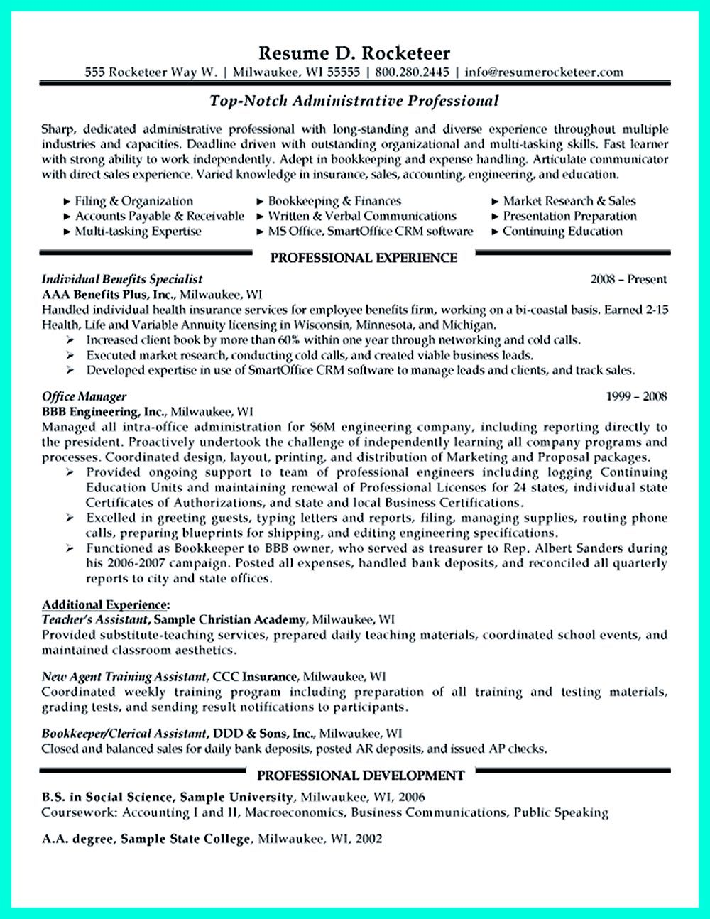 Clerical Resume Sample provides your chronological order of clerical ...
