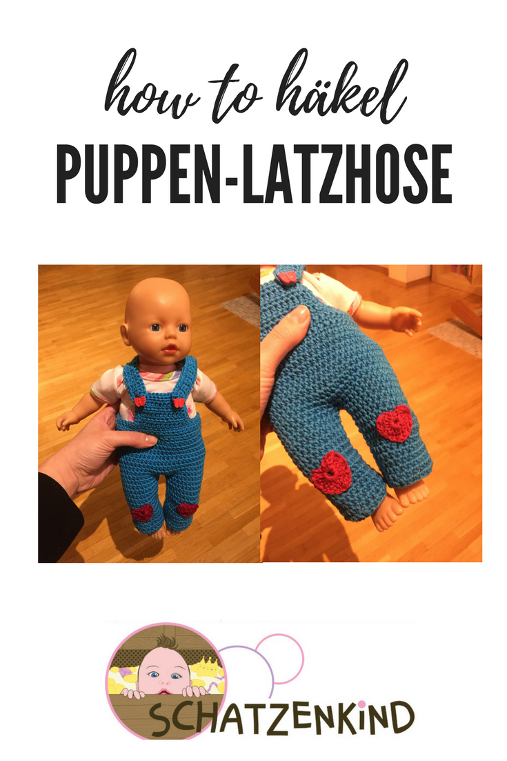 Photo of Häkelanleitung: Puppen-Latzhose