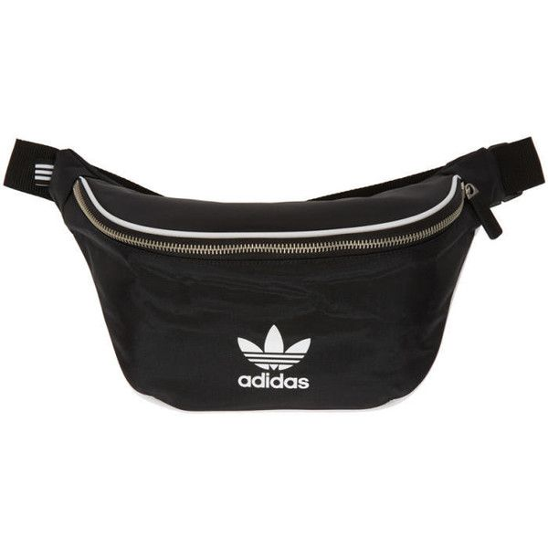 adidas Originals Black Logo Waist Bag ( 28) ❤ liked on Polyvore featuring  bags