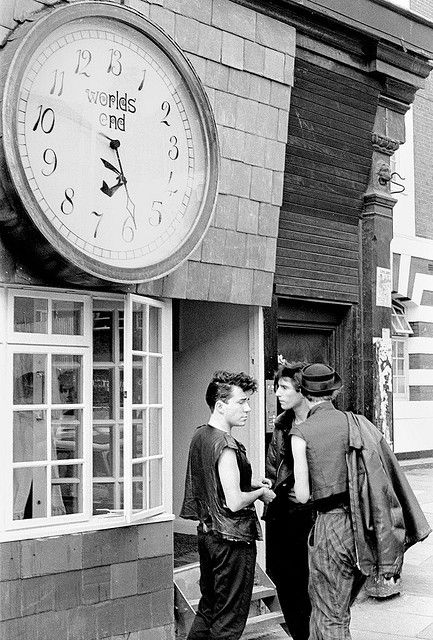6880d22f0c Worlds End shop on Kings Road, Chelsea London circa 1981 Around the corner,  near the Vivienne Westwood shop.