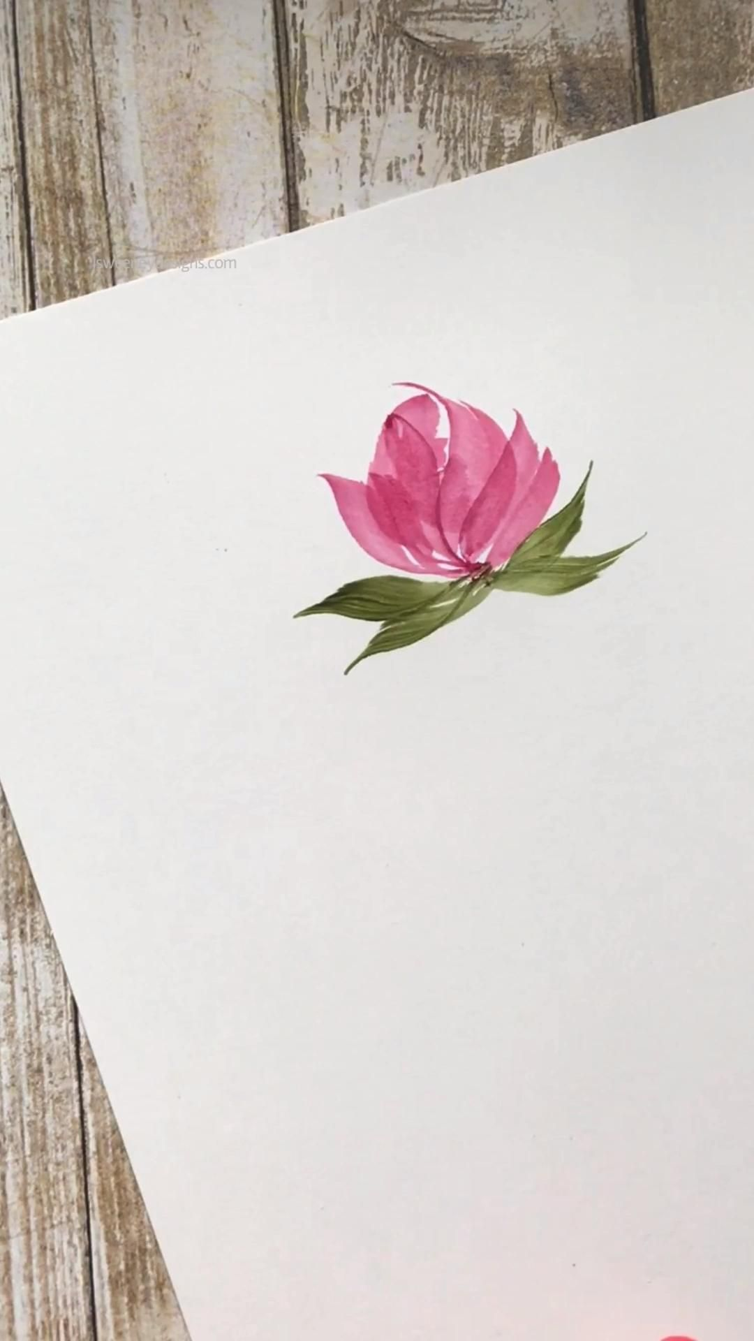 A quick floral blossom with a calligraphy stem