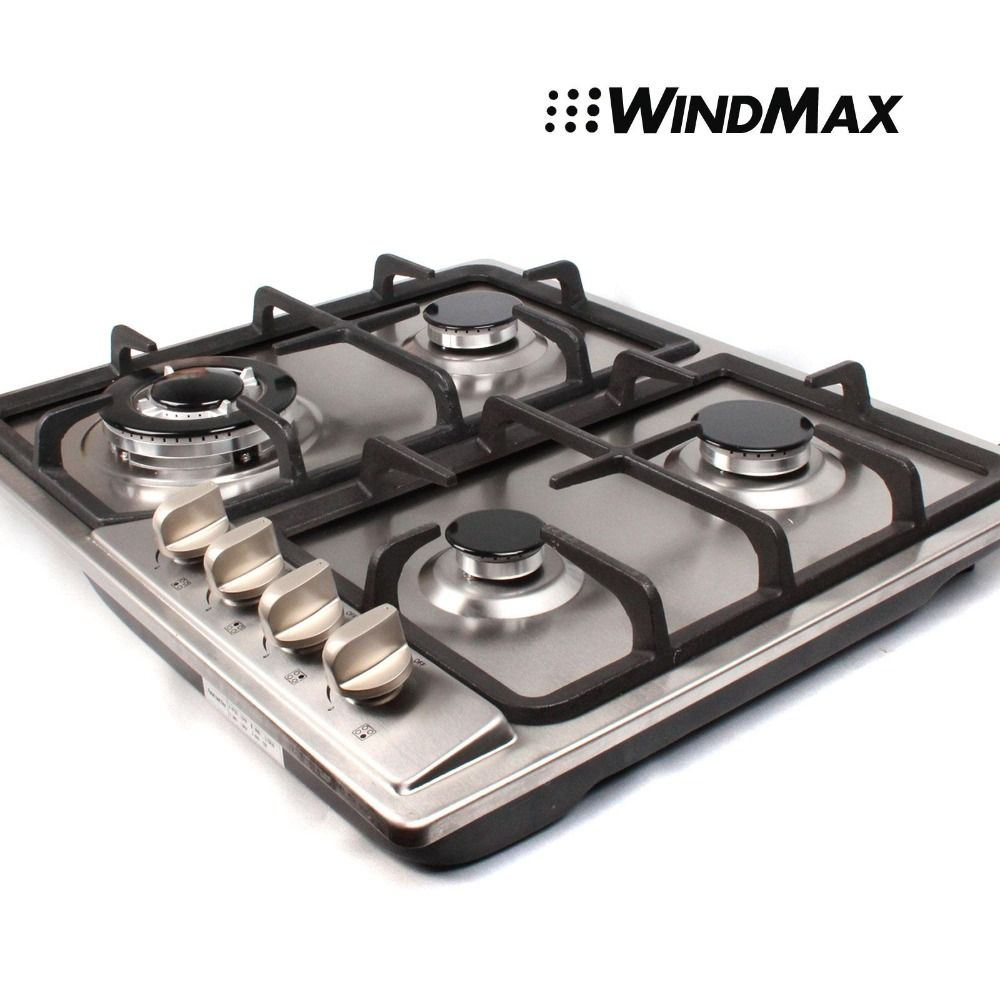 23 Inch Stainless Steel Built In Kitchen 4 Burner Stove Gas Hob Cooktop  Cooker #