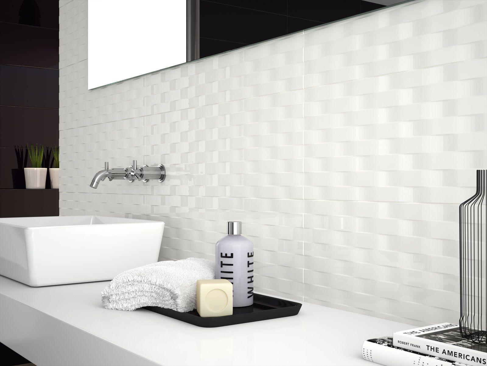 marazzi #soul waves white gloss 25x76 cm d726 | #feinsteinzeug, Badezimmer ideen