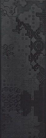 rev tement de sol mur en gr s c rame pour int rieur bas relief patchwork nero mutina black. Black Bedroom Furniture Sets. Home Design Ideas