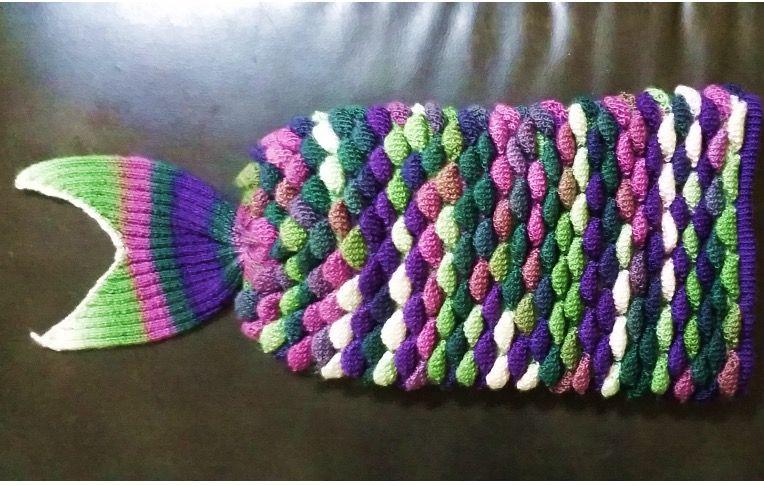 Loom Knit Mermaid Tail Blanket Knitting Pinterest Knitted