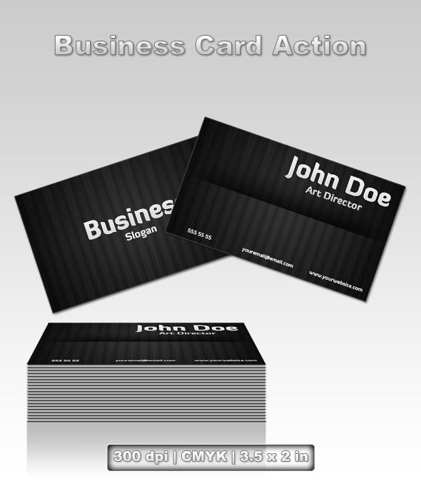 Business card action business cards action and photoshop business card action layered psd reflection business available here https reheart Gallery