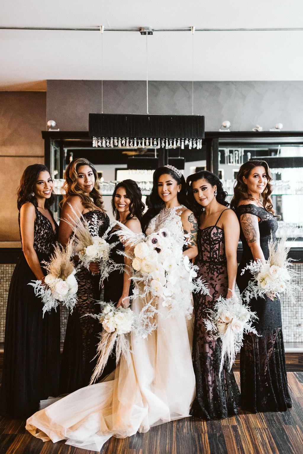 Bridesmaids wedding dresses lace unique wedding venues