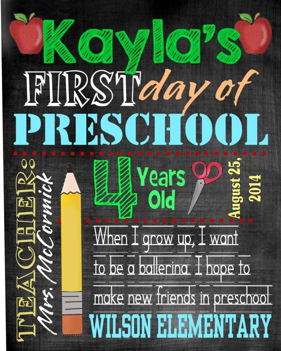 first day of school template word first day of school chalkboard printables free printable. Black Bedroom Furniture Sets. Home Design Ideas