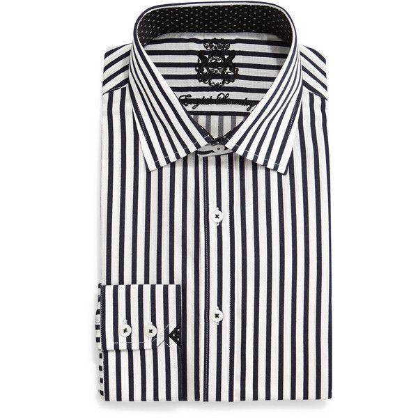 English Laundry Striped Woven Dress Shirt Mens Woven Shirts