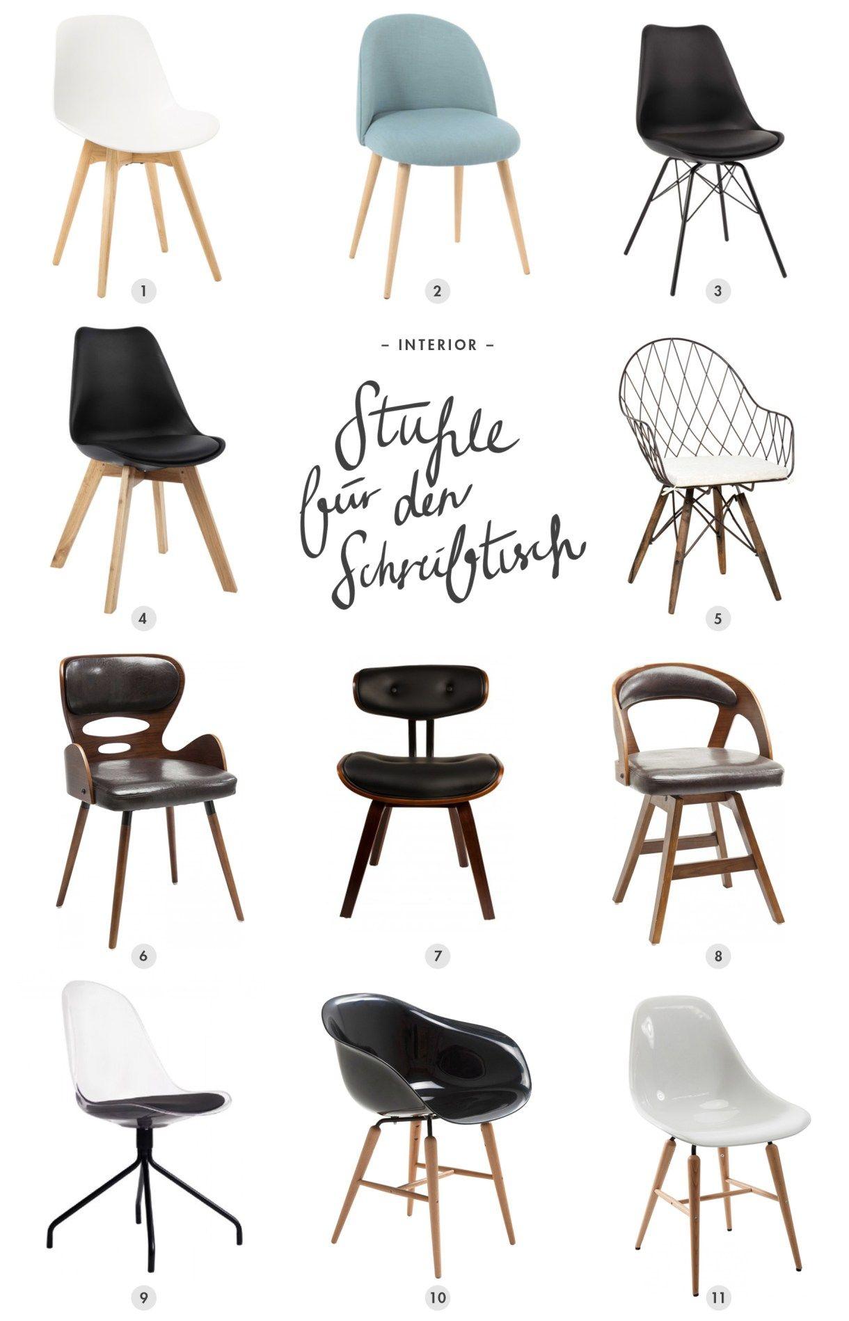 stuhl f r den schreibtisch deco home office chairs. Black Bedroom Furniture Sets. Home Design Ideas