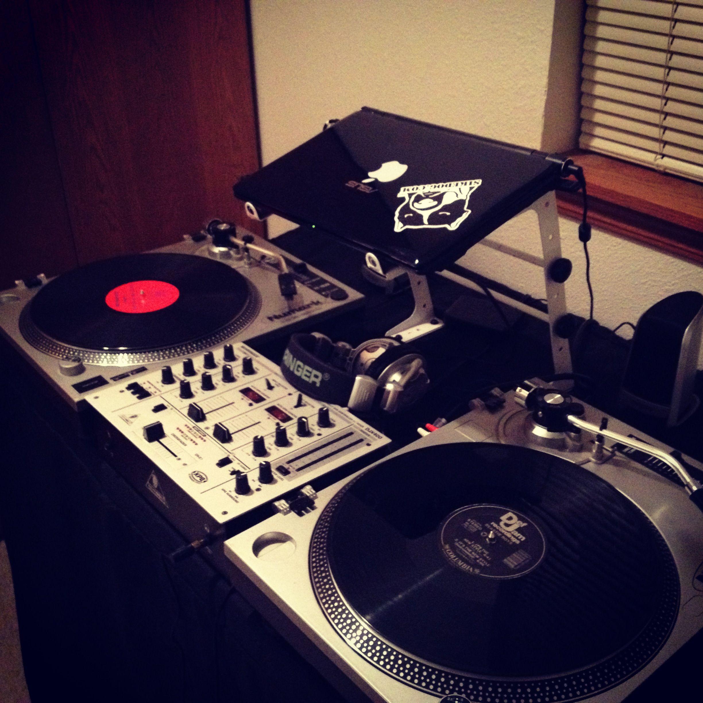 my dj setup vinyl one love pinterest. Black Bedroom Furniture Sets. Home Design Ideas